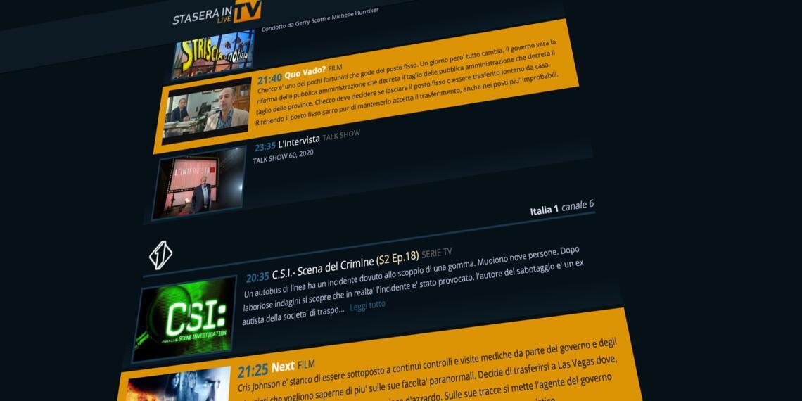 Scopri il nostro progetto di guida Tv per il digitale e Sky!