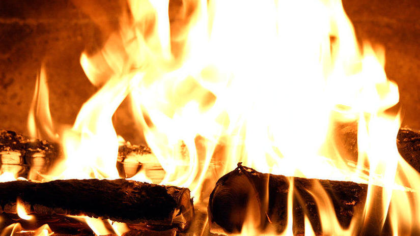 Immagine tratta da Camino per casa vostra - Fuoco crepitante da legno di betulla